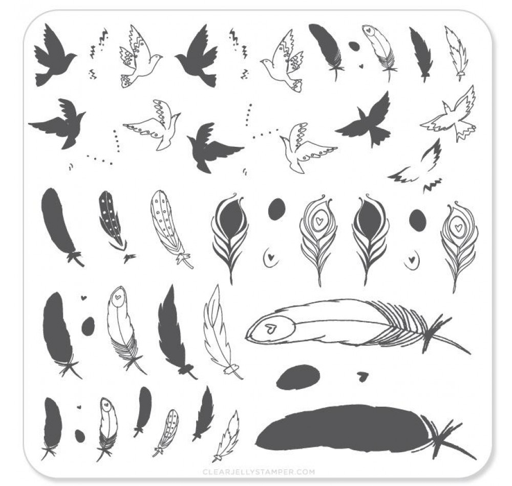 Clear Jelly Stamper - Birds of a Feather