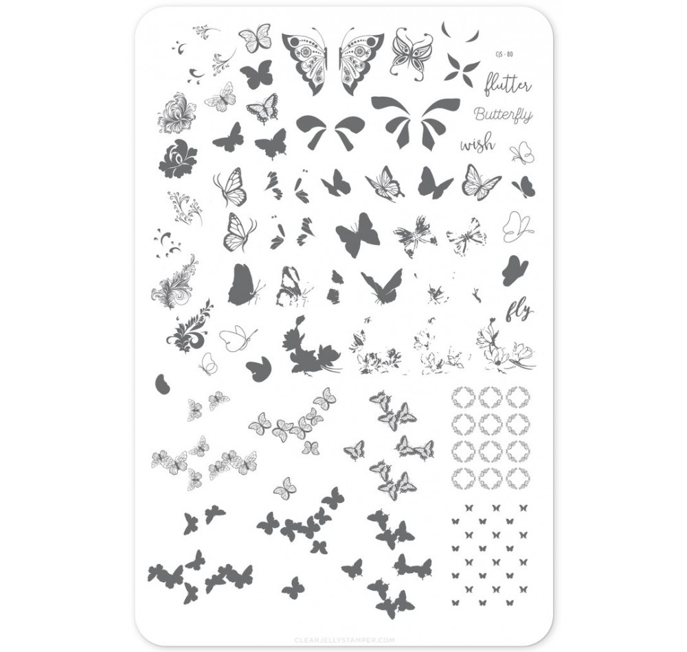 Clear Jelly Stamper - Butterfly Wishes