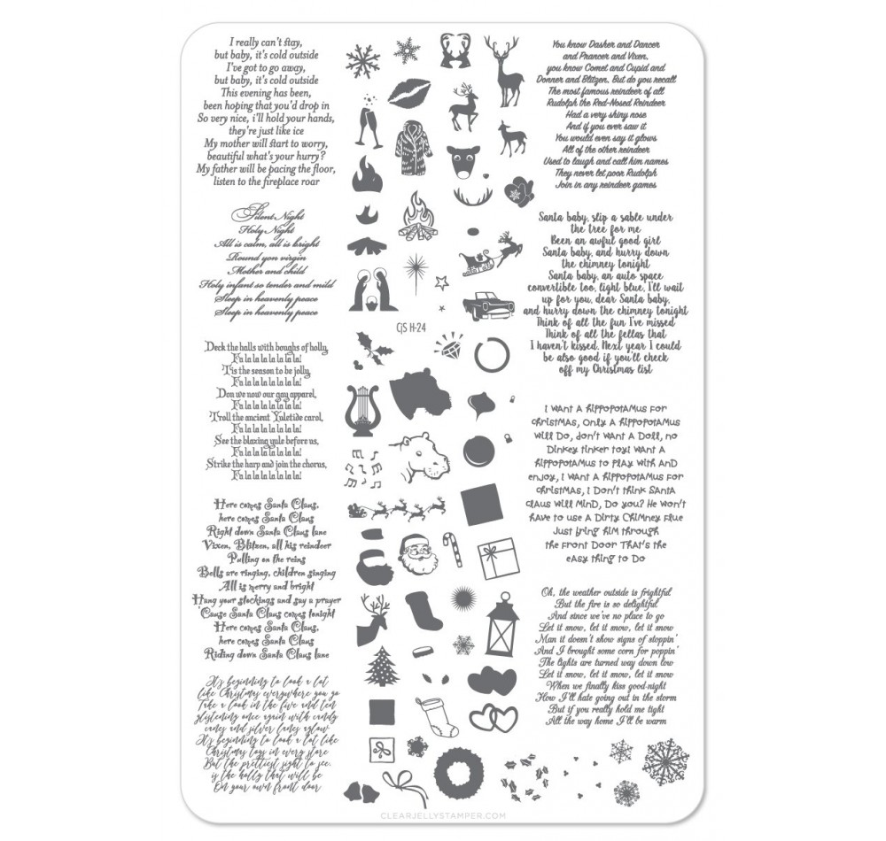 Clear Jelly Stamper - Carolling We Will Go