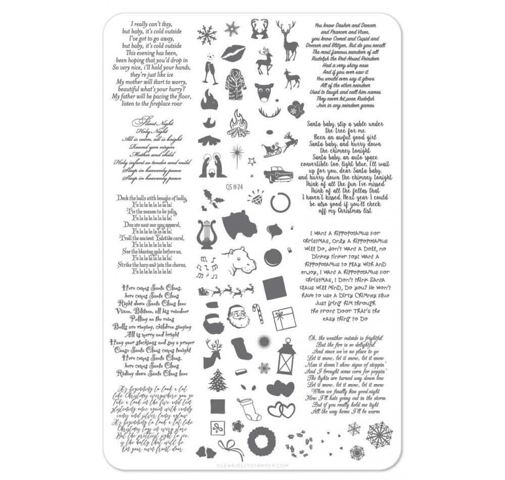 Пластина для стемпинга Clear Jelly Stamper - Carolling We Will Go