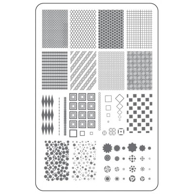 Пластина для стемпинга Clear Jelly Stamper - Chantel's Full Coverage (CjS LC-37)