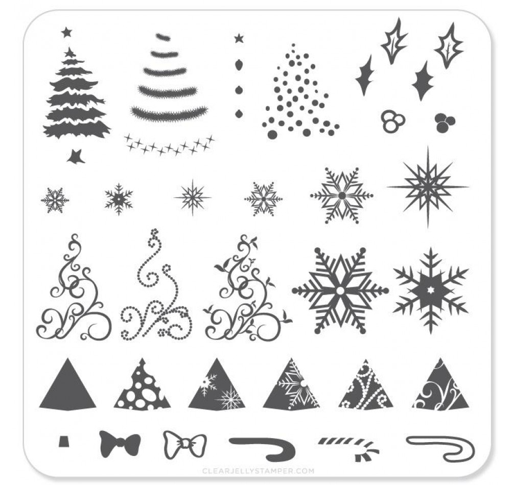 Clear Jelly Stamper - Christmas Tree