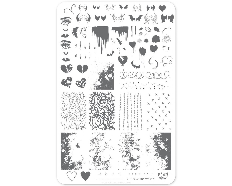 Пластина для стемпинга Clear Jelly Stamper - Dark Heart