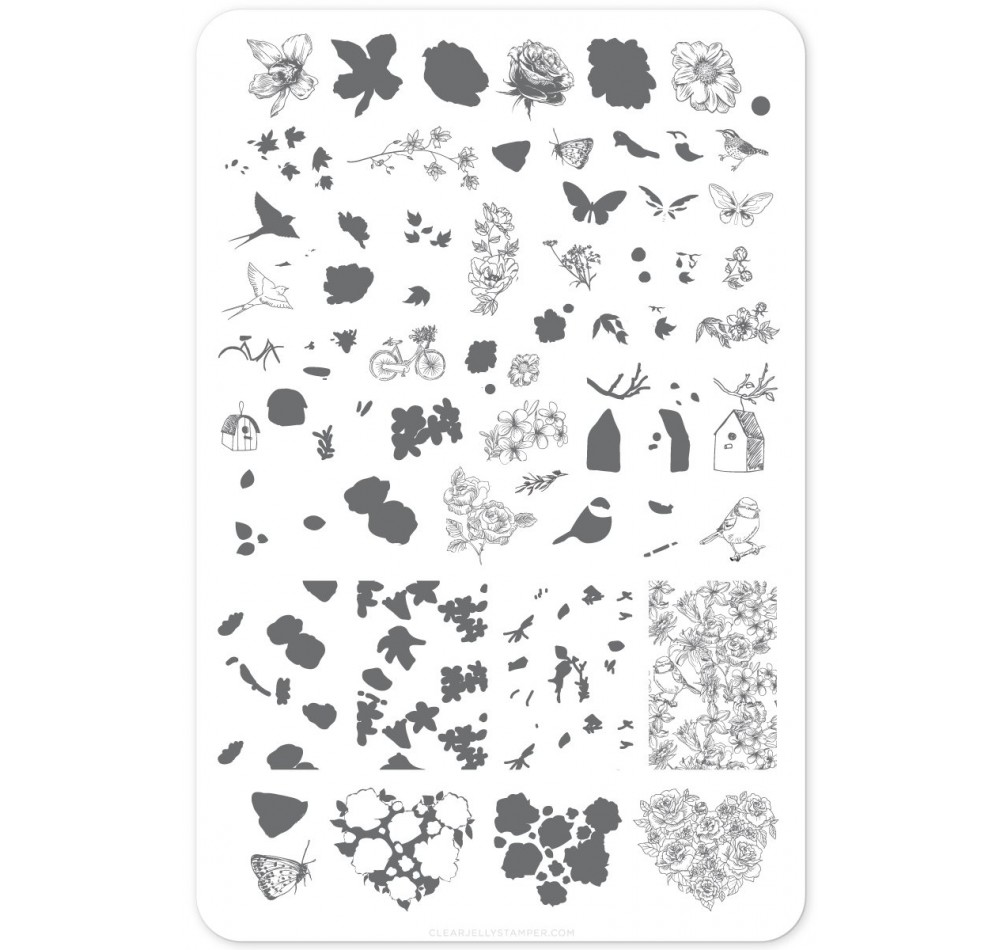 Clear Jelly Stamper - Delicate Garden