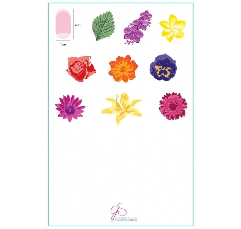 Clear Jelly Stamper - Full On Floral