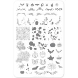Пластина для стемпинга Clear Jelly Stamper - Gurly Swirly Halloween