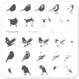 Пластина для стемпинга Clear Jelly Stamper - Itty Bitty Birds