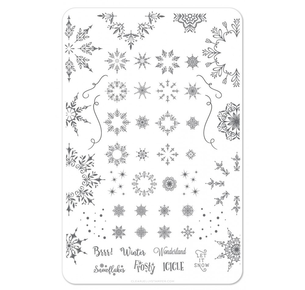 Clear Jelly Stamper - Let it Snow