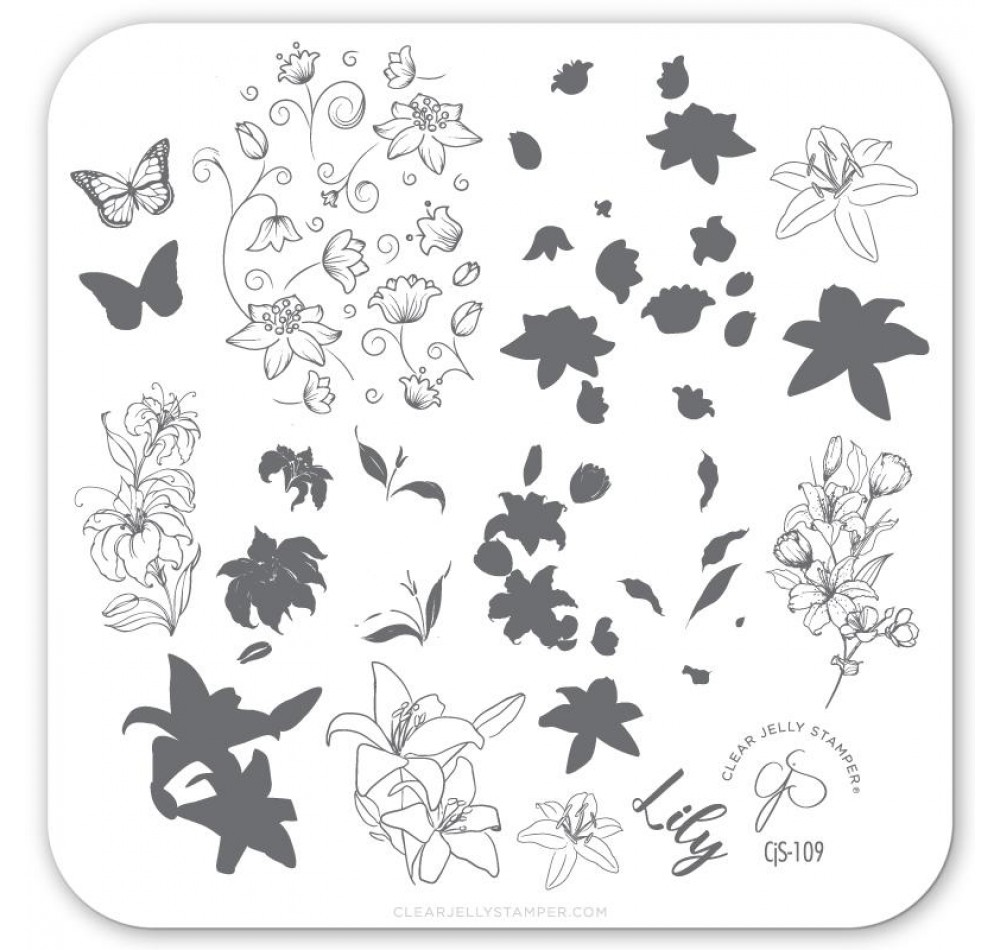 Clear Jelly Stamper - Lovely Lilies