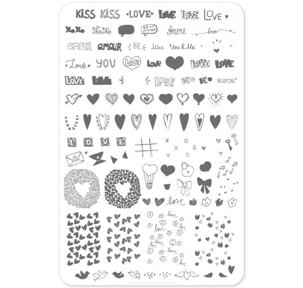 Clear Jelly Stamper - LoVe Notes