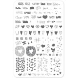 Пластина для стемпинга Clear Jelly Stamper - LoVe Notes