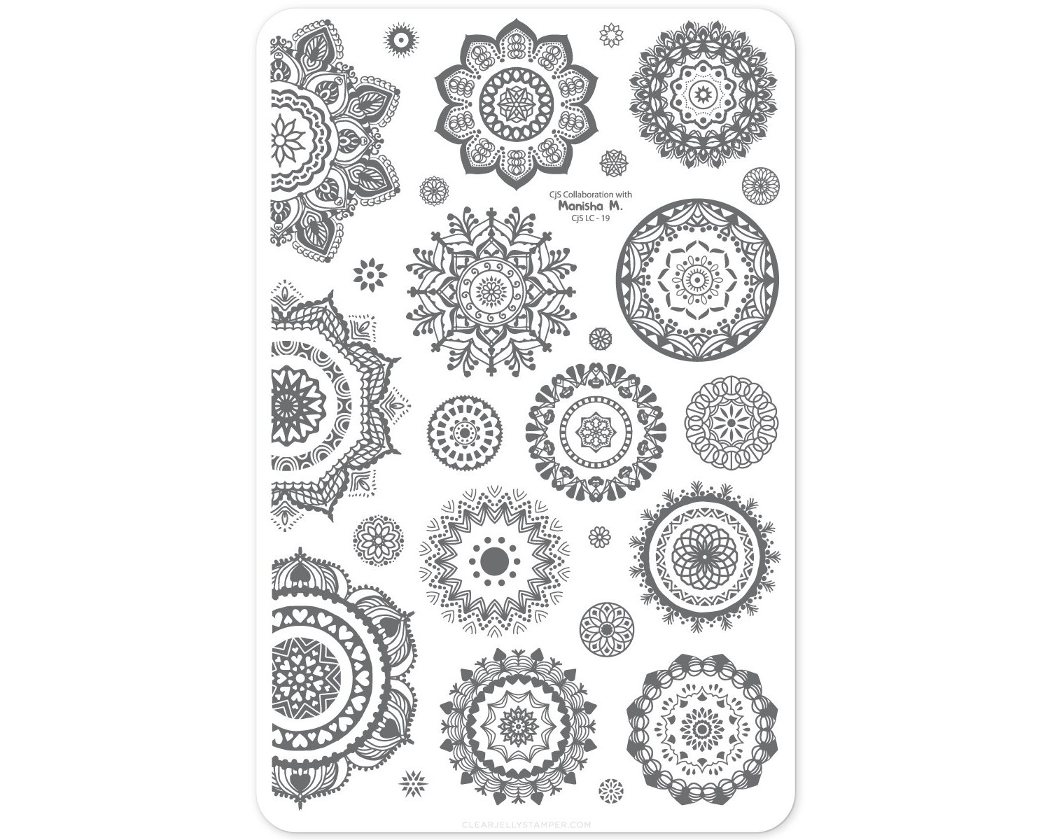 Clear Jelly Stamper - Manishas Mandalas