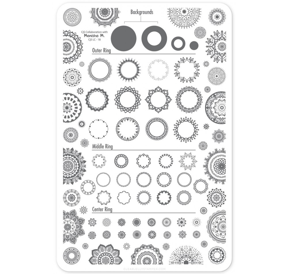 Clear Jelly Stamper - Myriad of Mandalas