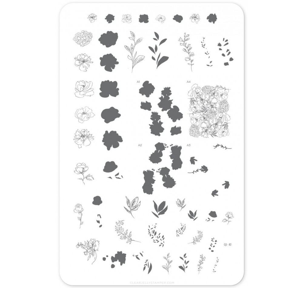 Clear Jelly Stamper - Sketched Garden