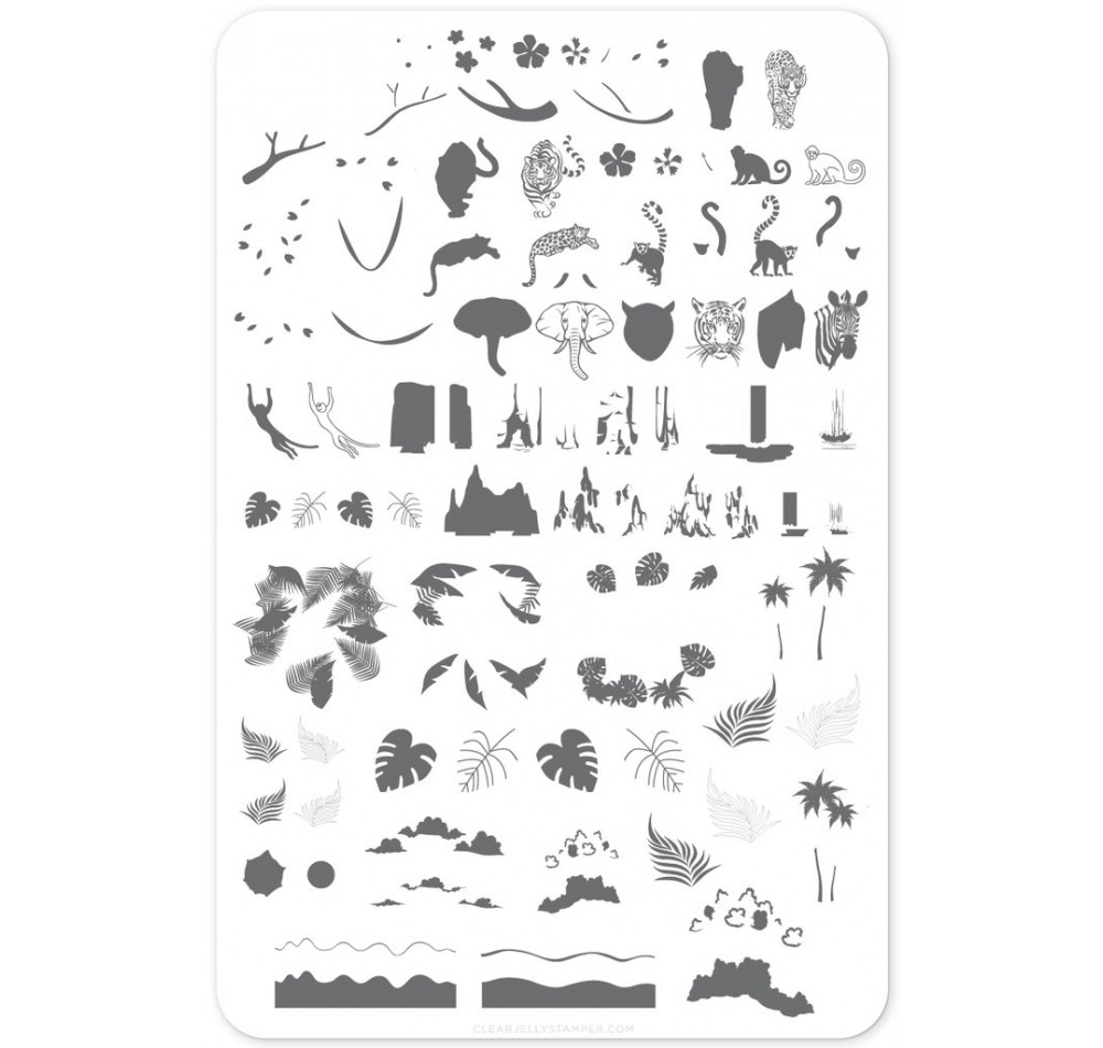 Clear Jelly Stamper - Suzie's Welcome to the Jungle
