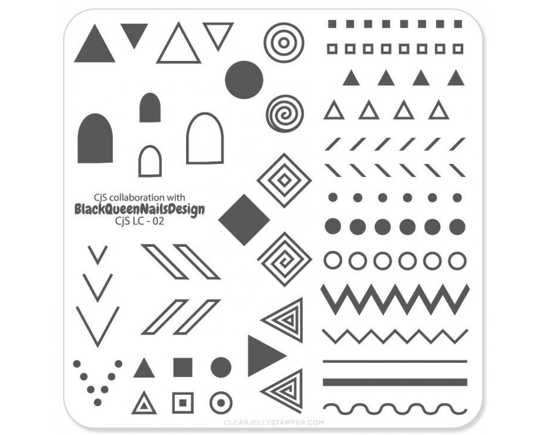 Clear Jelly Stamper - Tribal By BlackQueenNailDesign