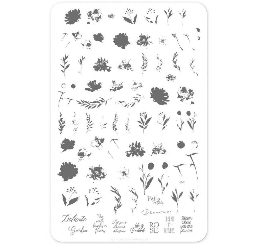 Пластина для стемпинга Clear Jelly Stamper - Watercolour Garden