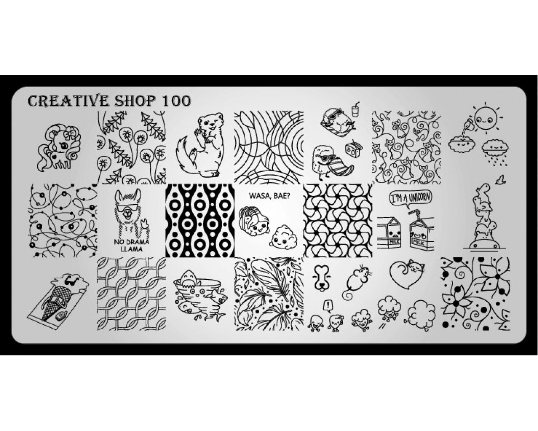 Пластина для стемпинга Creative Shop 100