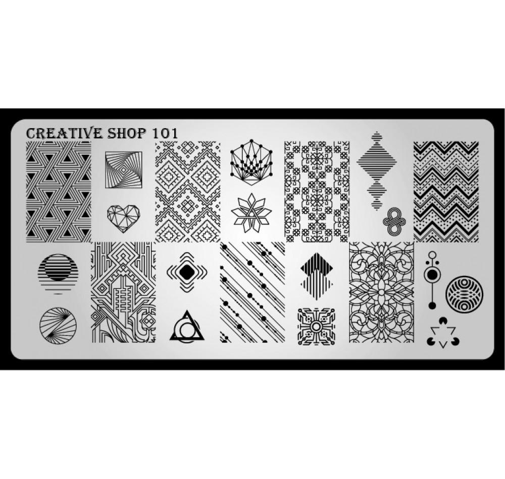 Пластина для стемпинга Creative Shop 101