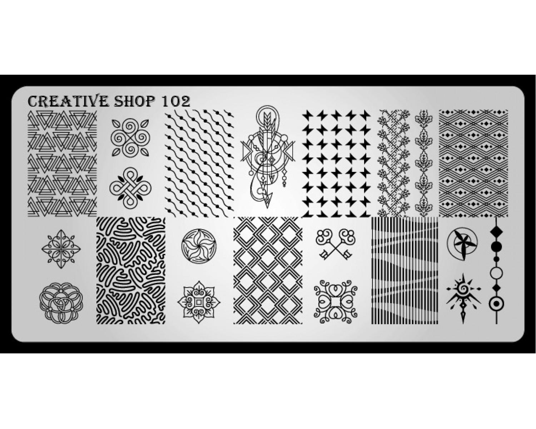 Пластина для стемпинга Creative Shop 102