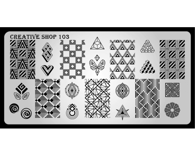 Пластина для стемпинга Creative Shop 103