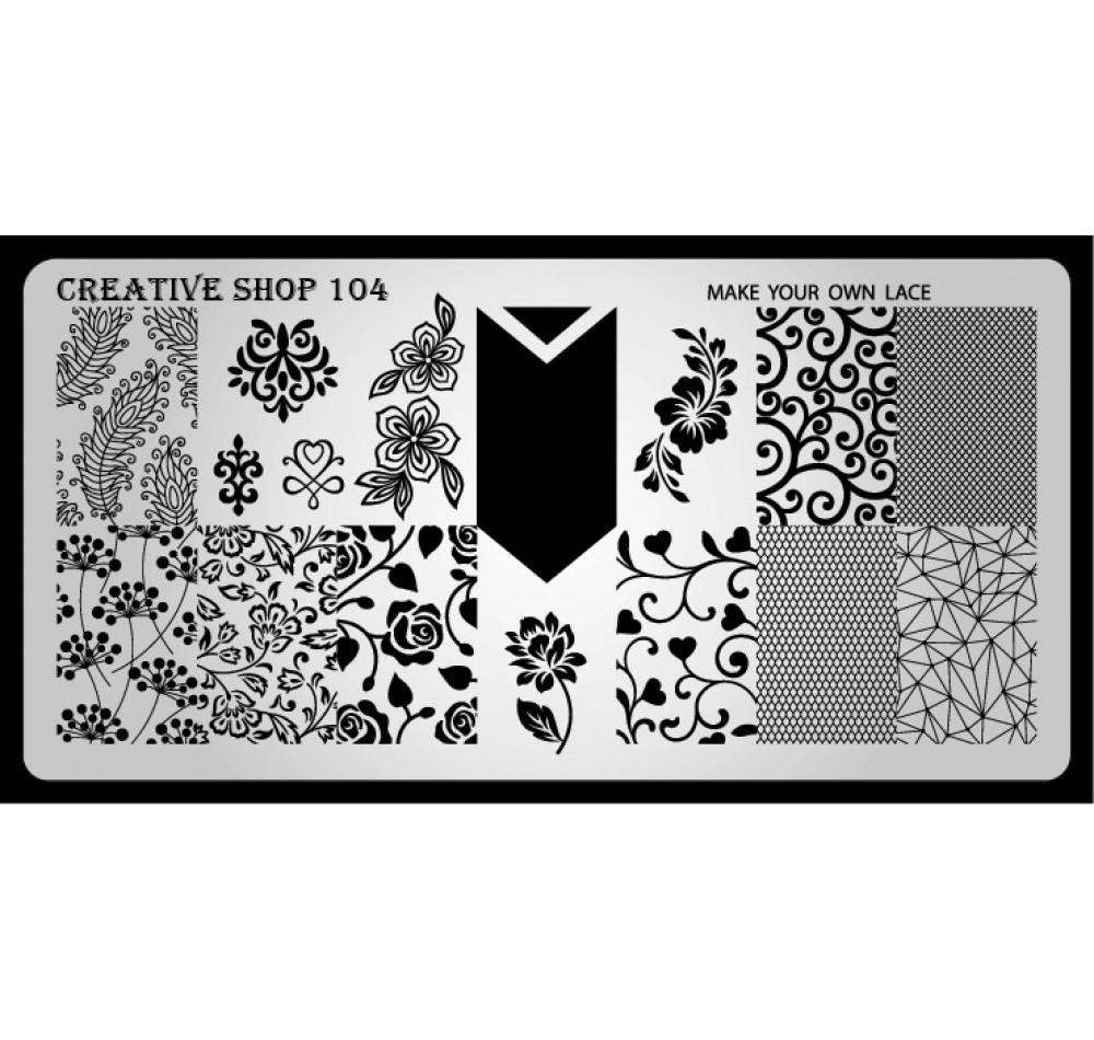Пластина для стемпинга Creative Shop 104