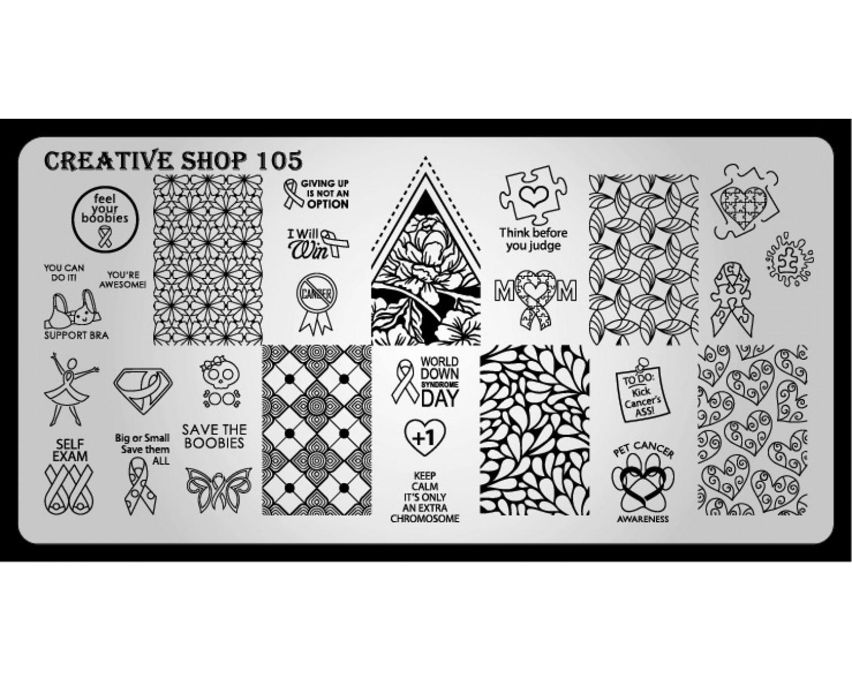 Пластина для стемпинга Creative Shop 105