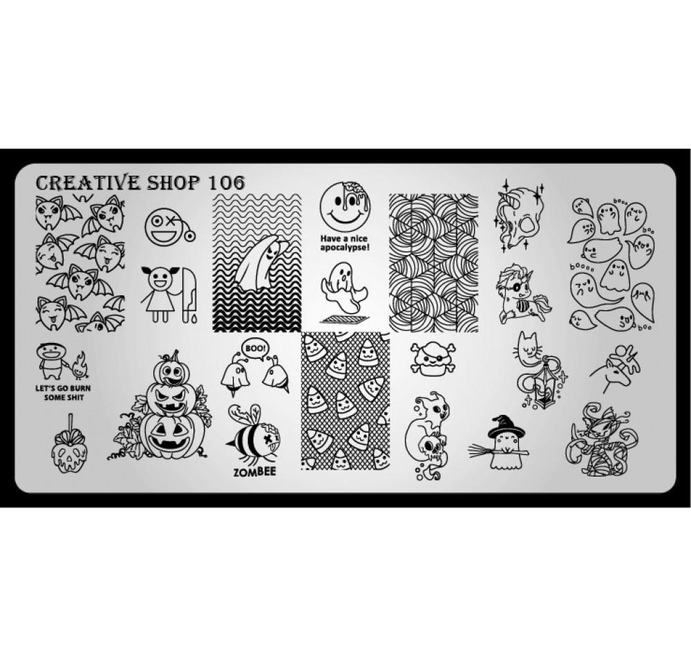 Пластина для стемпинга Creative Shop 106
