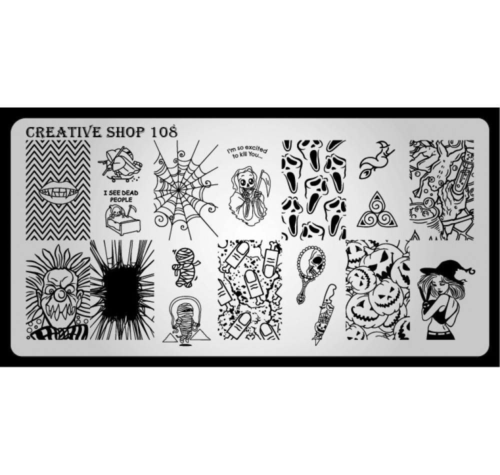 Пластина для стемпинга Creative Shop 108