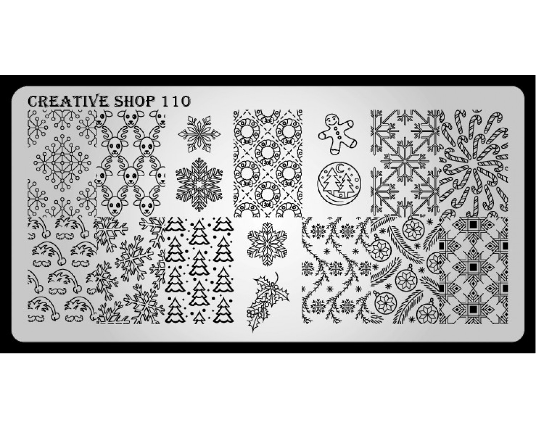 Пластина для стемпинга Creative Shop 110