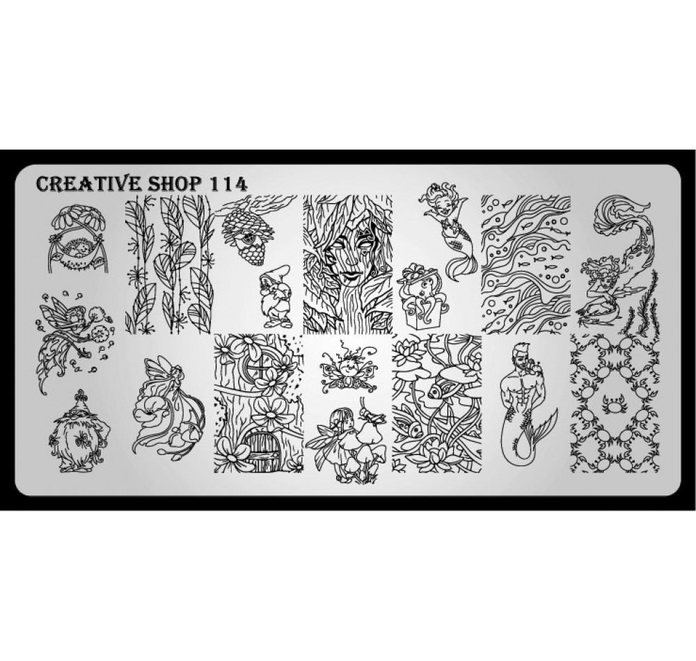 Пластина для стемпинга Creative Shop 114
