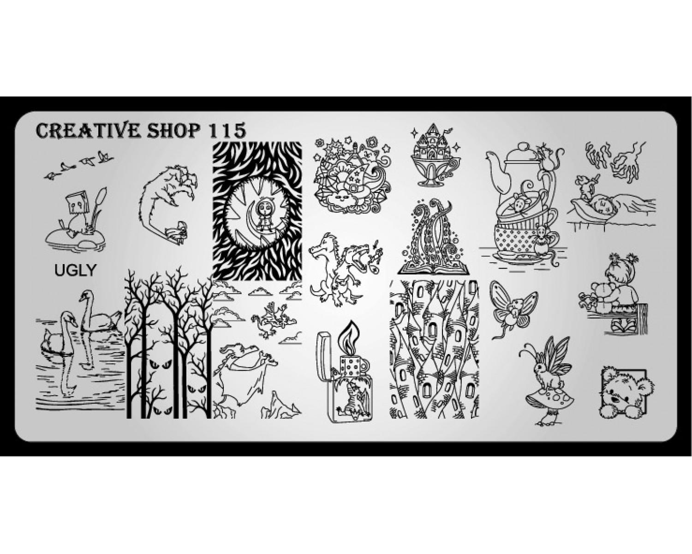 Пластина для стемпинга Creative Shop 115