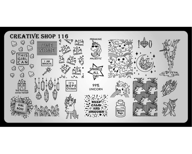 Пластина для стемпинга Creative Shop 116