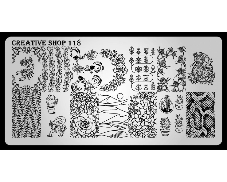 Пластина для стемпинга Creative Shop 118