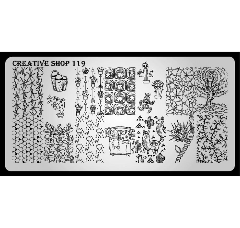 Пластина для стемпинга Creative Shop 119