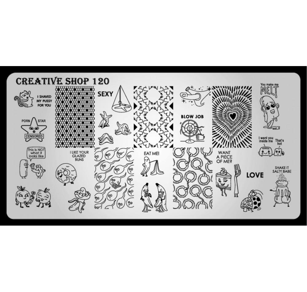 Пластина для стемпинга Creative Shop 120