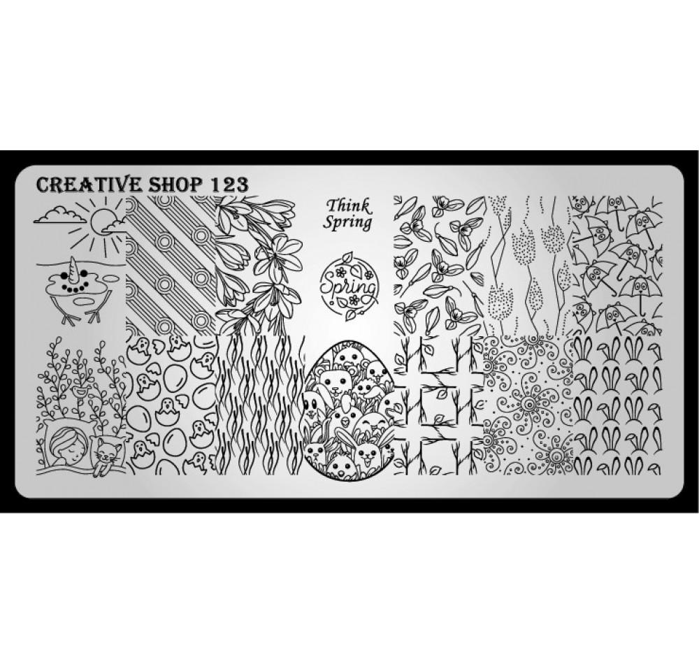 Пластина для стемпинга Creative Shop 123