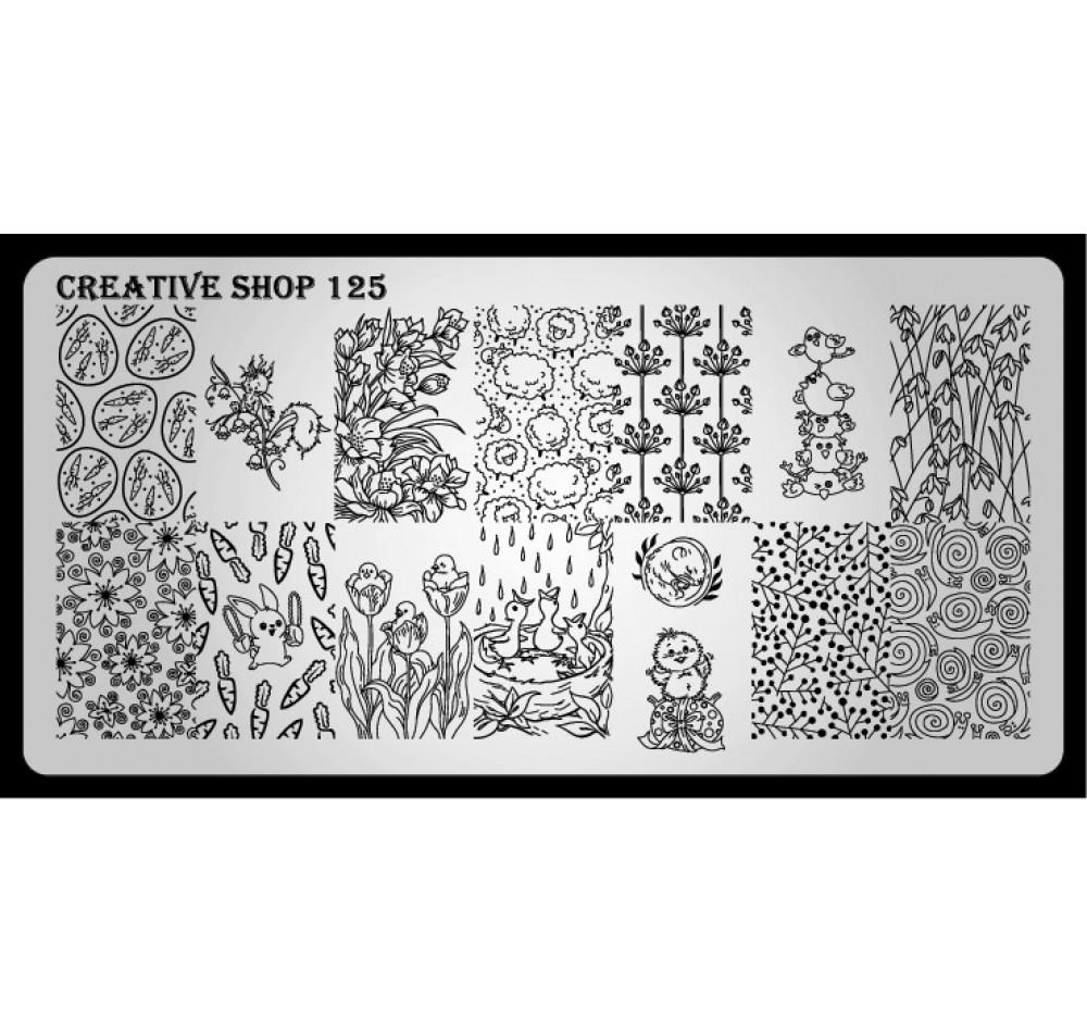Пластина для стемпинга Creative Shop 125