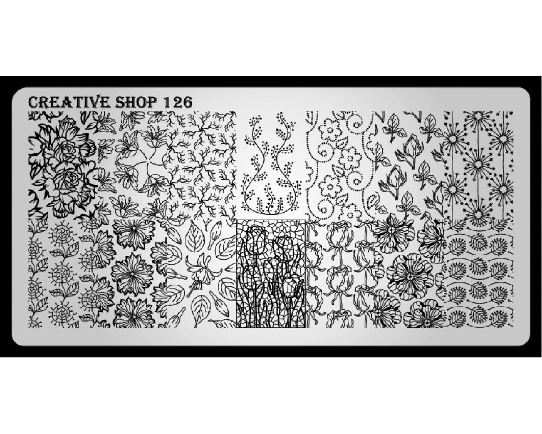 Пластина для стемпинга Creative Shop 126