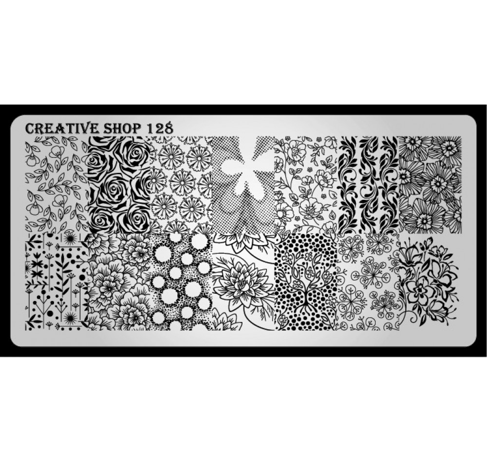 Пластина для стемпинга Creative Shop 128