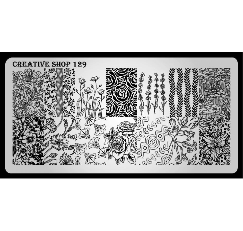 Пластина для стемпинга Creative Shop 129