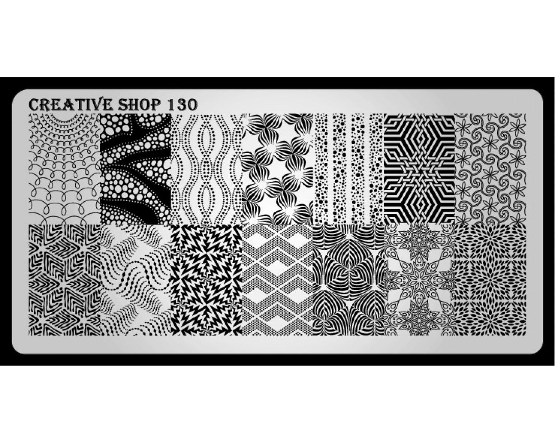 Пластина для стемпинга Creative Shop 130