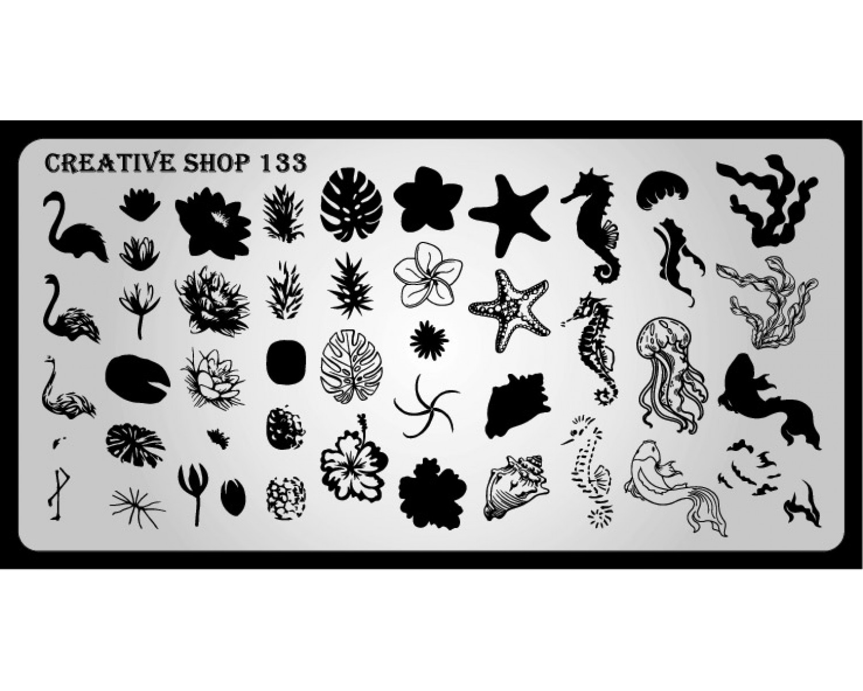 Пластина для стемпинга Creative Shop 133
