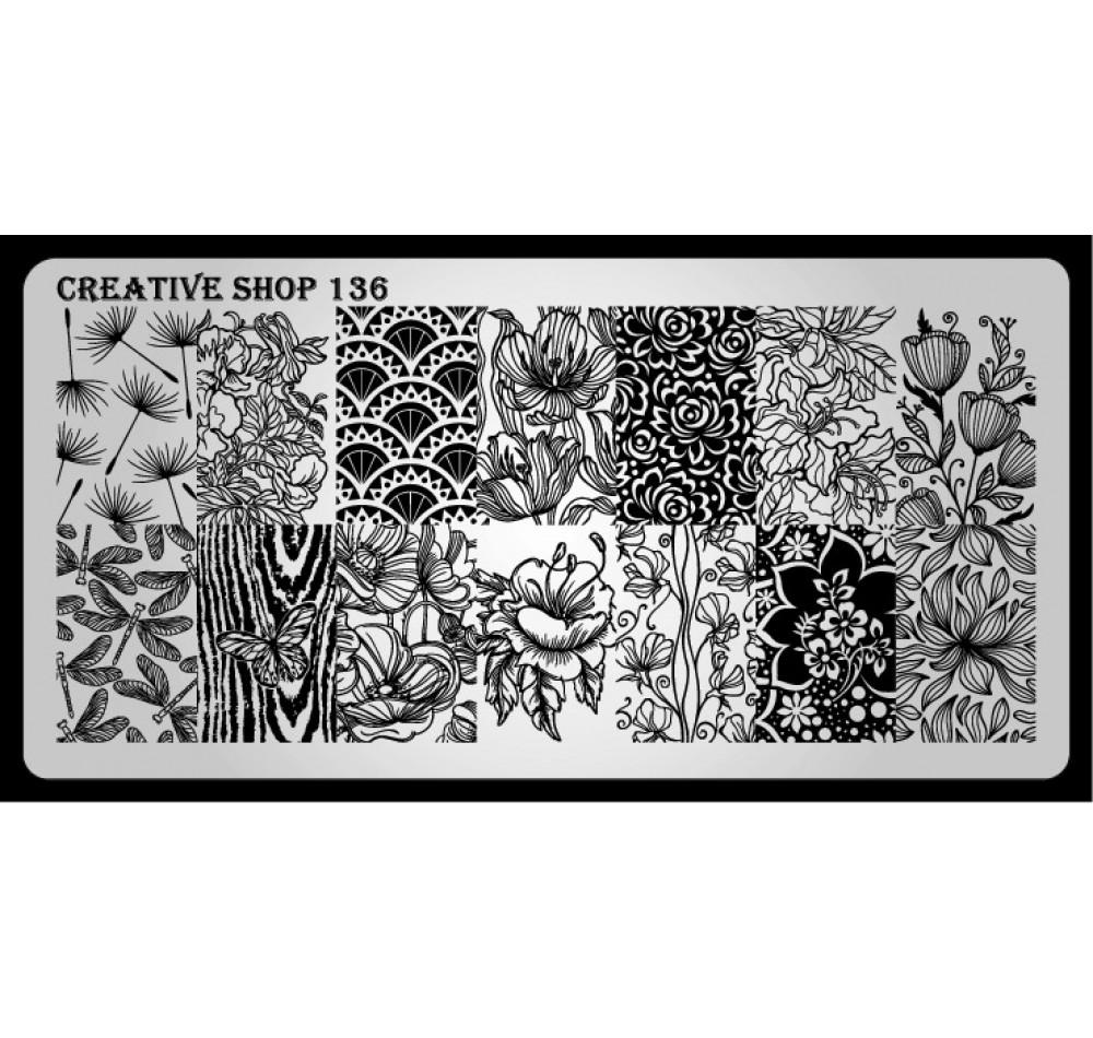Пластина для стемпинга Creative Shop 136