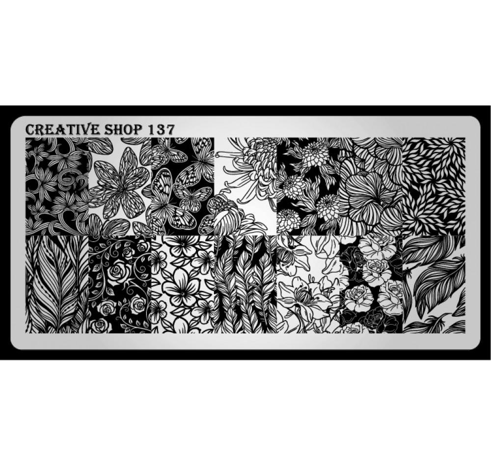 Пластина для стемпинга Creative Shop 137