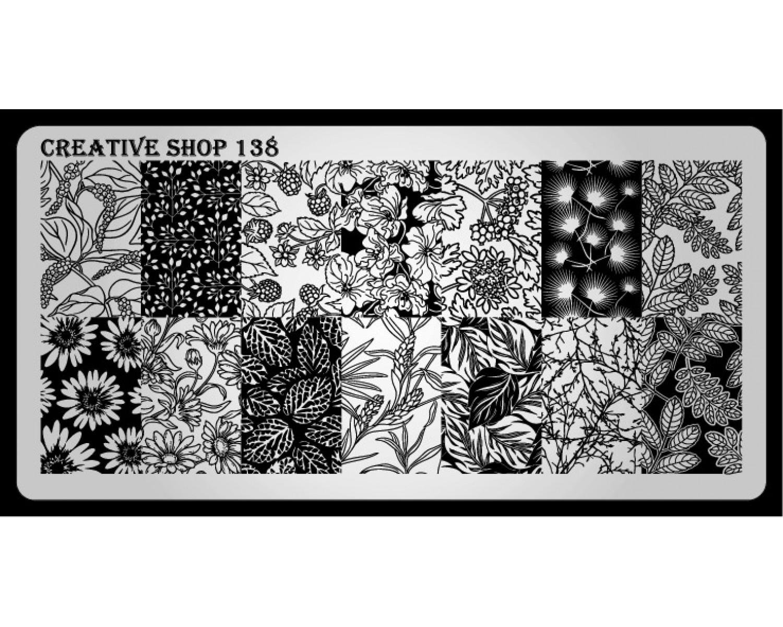 Пластина для стемпинга Creative Shop 138