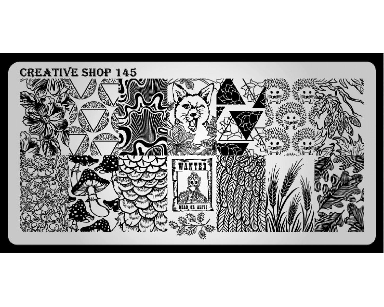 Пластина для стемпинга Creative Shop 145