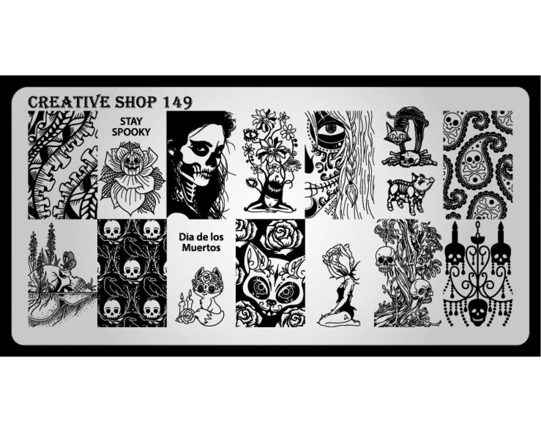 Пластина для стемпинга Creative Shop 149