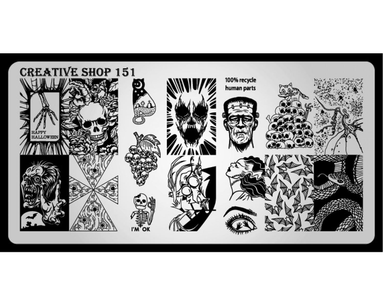Пластина для стемпинга Creative Shop 151