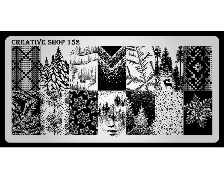 Пластина для стемпинга Creative Shop 152